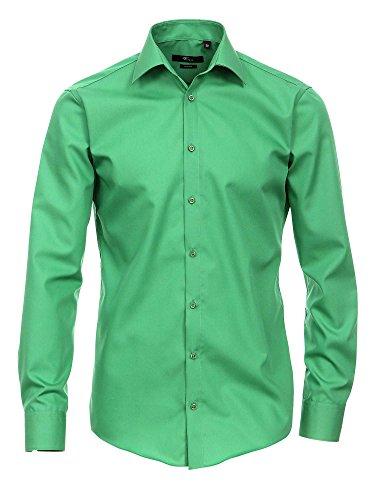 Venti Herren Businesshemd Auch Große Größen 100% Baumwolle Grün 40/M