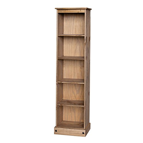 Mercers Furniture Corona Tall Narrow Bookcase - Pine