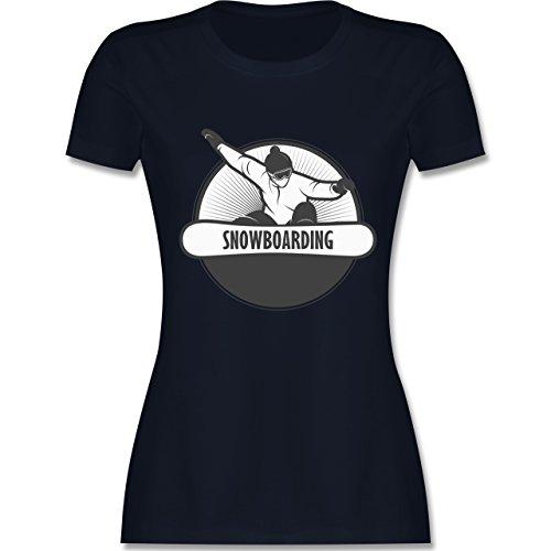 Wintersport - Snowboard Fun - tailliertes Premium T-Shirt mit Rundhalsausschnitt für Damen Navy Blau