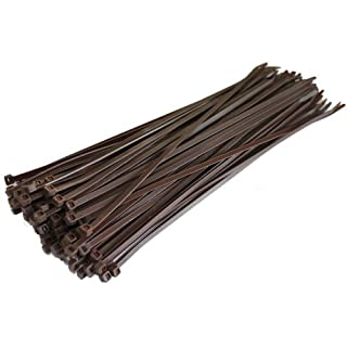 All Trade Direct 100 X Brown Cable Ties 200Mm X 4.8Mm Zip Tie Bases All Sizes Stocked