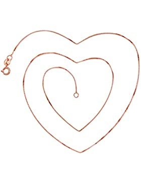 JiangXin Italienisch Venezianierkette Silber / Rosen /Gelb Damen Ketten Halskette 45cm Box Kette 0.8mm breit Ankerkette...