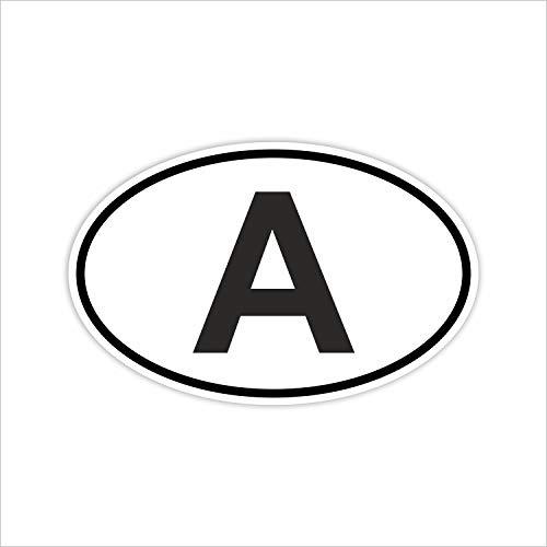 easydruck24de Auto-Aufkleber Länderkennzeichen Österreich I Sticker weiß schwarz I kfz_220 I 14,5 x 9 cm I Fan-Artikel Produkt Flagge Fahne Fahrzeug-Aufkleber
