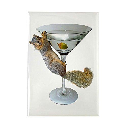 CafePress–Martini Eichhörnchen–Rechteck Magnet, 5,1x 7,6cm Kühlschrank Magnet