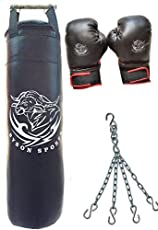 Byson Boxing Kit Set for Seniors and Professionals (36 inch Strong and Rough Punching Bag with Boxing Glove 12oz and Chain)(Heavy Bags)