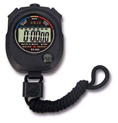 Oyedens wasserdichte Digitale LCD Stoppuhr Chronograph Timer ZäHler Sportalarm Stoppuhr