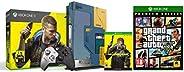 Xbox One X Cyberpunk 2077 Limited Edition Bundle (1TB)&Grand Theft V - Premium Edition (Xbox