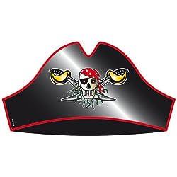 Sombreros de pirata para fiestas, 8 unidades.