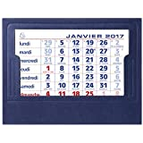 "EXACOMPTA Calendrier Chevalets complets 105x135 mm Millésime ""2017"""