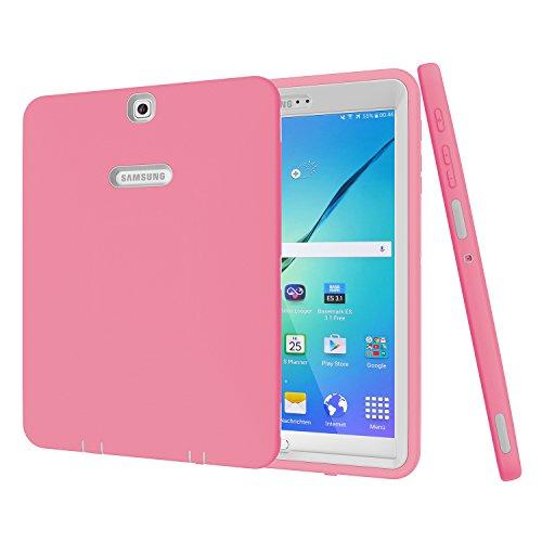 Galaxy Tab S29,7Case, beimu 3in 1Stoßfest Heavy Duty Rugged Hybrid Armor Defender Schutz Cover für Samsung Galaxy Tab S224,6cm sm-t810/T815/t813N/t819N Pink+Grey - Galaxy Samsung Touchscreen S2