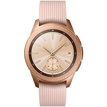 60ac59ac212c Samsung Galaxy Watch - Reloj inteligente Bluetooth (42 mm) color dorado rosa-  Version