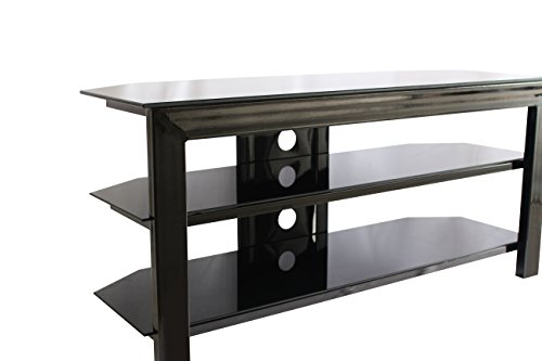 Black 3-tier Tv Stand And Entertainment Stand