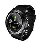 Fuibo Smartwatch, Smart Watch Sport Wasserdichte Herzfrequenz-Blutdruckmessgerät für iOS Armbanduhr Sport Fitness Tracker Armband (Schwarz)
