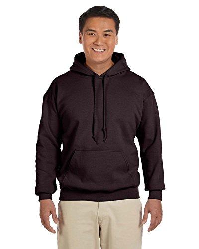 Gildan 18500 - Classic Fit Adult Hooded Sweatshirt Heavy Blend - First Quality - Dark Chocolate - 5X-Large Chocolate Hooded Sweatshirt Hoodie