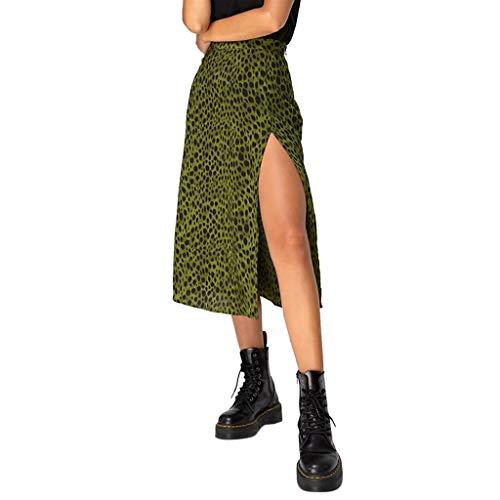 Sylar Faldas Mujer Midi Falda Larga Estampada Leopardo/a Lunares Vintage De Años para Mujeres Faldas Largas Bohemias