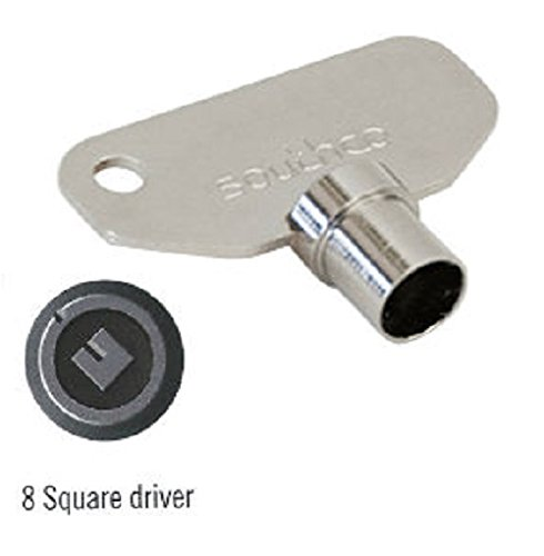 SOUTHCO E3–8-1Schlüssel, 8mm quadratisch (3Stück)