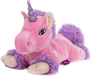 Habibi Premium-Unicornio Rosa-Lila purpurina Cuerno,