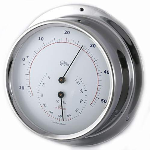 Barigo Instrumente Regatta Thermometer Hygrometer Edelstahl 120mm - Regatta-luft