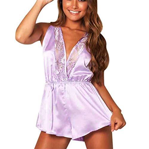 Linkay Damen Nachthemden Dessous-Body Schlafanzugoberteile Bequem Zuhause Schlafanzughosen Pyjama Gesetzt Mode 2019 (Rosa, X-Large) - Navy Plaid Flanell Pyjama-hose
