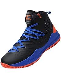 44df376180f SINOES Hombre Zapatillas de Baloncesto Calzado Deportivo Al Aire Libre Moda  High-Top Sneaker Antideslizante