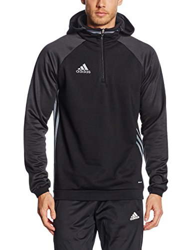 adidas Herren Kapuzenpullover Condivo 16 Fleece, Black/Vista Grey S15, L, AJ6908 -
