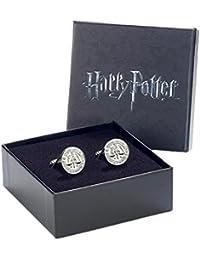Offizielle Warner Bros Harry Potter Ministry of Magic Logo silber vergoldete Manschettenknöpfe