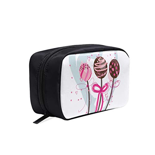 996808a80514 Beautiful Lollipop Pink Portable Travel Makeup Cosmetic Bags Organizer  Multifunction Case Small Toiletry Bags For Women And Men Brushes Case