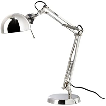 ikea fors 5054809742239 lampe de bureau nickel m tal luminaires et eclairage. Black Bedroom Furniture Sets. Home Design Ideas