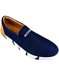 NICHOLAS TRIPLEX01 Men's Shoes Casual Navy Blue Size 6