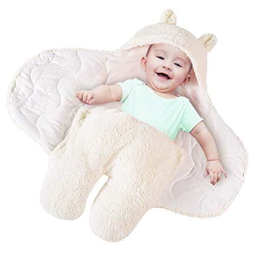 Couverture épaisse en peluche pour nouveau-né - Cadeau de naissance blanc blanc