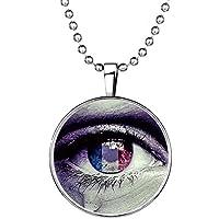 YC Top creativo originale design Evil Eye noctilucous Ciondolo Collana
