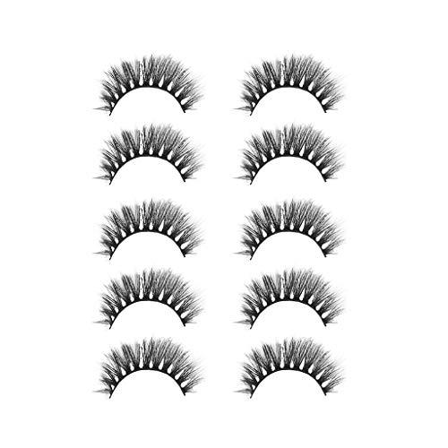 Xmansky 5 Paar falsche Wimpern,3D falsche Wimpern Wimpern voluminöse Wimpern Make-up...