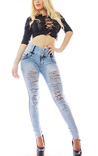 FARINA®1706 Pantaloni jeans donne + Bluse e camicie Jeans+Camicie