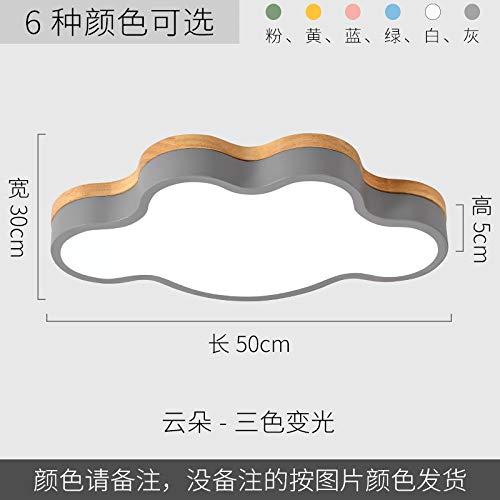 Lámpara de estudio de dormitorio minimalista ultra-delgada led en la nube 50 tricolor gris