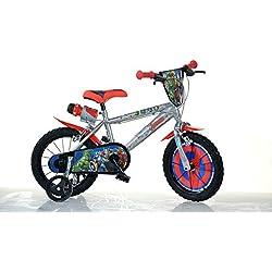 "Dino Bikes Avengers Infantil Unisex Ciudad Metal Azul, Rojo bicicletta - Bicicleta (Plegado, Ciudad, Metal, Azul, Rojo, 35,6 cm (14""), Cadena)"