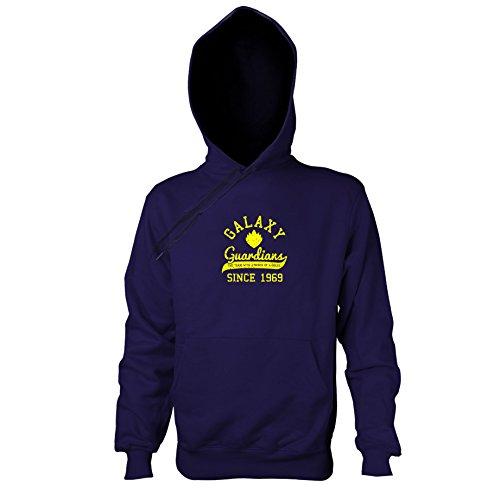 TEXLAB - Guardians College - Herren Kapuzenpullover, Größe XXL, navy (Star Lord Kostüm Hoodie)