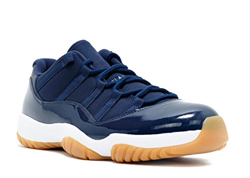 an 11 Retro Low Basketballschuhe blau (Midnight Navy/White-Gum Light Brown) 48.5 EU ()