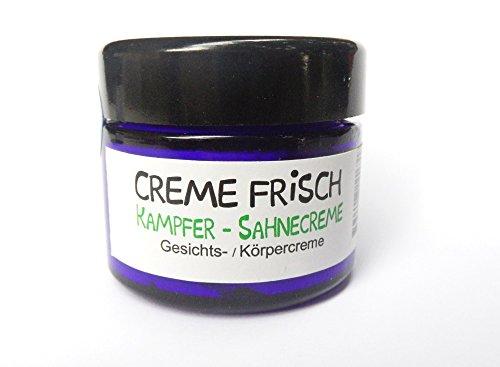 CREME FRISCH - Kampfer-Sahne-Creme 50 ml - Naturkosmetik bei unreiner Haut /Akne