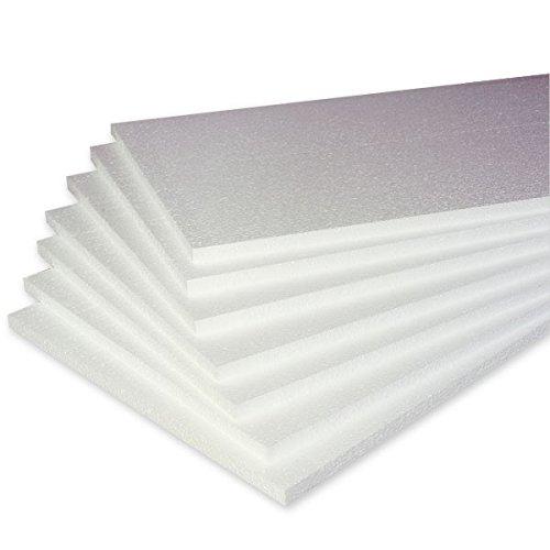 Propac z-pol4W dalles en polystyrène, 100x 100m x 4cm, densité 25kg/m3, Lot de 12