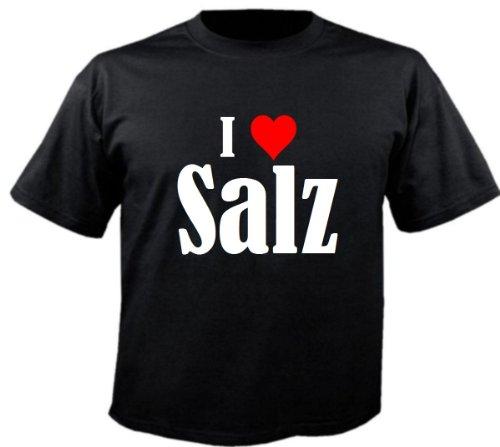 Kinder T-Shirt I Love Salz Größe 164 Farbe Schwarz Druck Weiss - Markt Salz