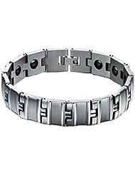 Queenshiny®titanio pulsera de acero magnético(Hombre Pulsera-1)