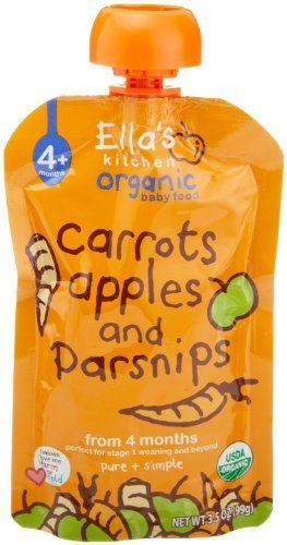 Ellas Kitchen Ellas Kitchen Organic Baby Food Carrots, Apples And Parsnips , 3.5 Ounce Pouches By Ellas Kitchen
