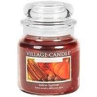Village Candle Indischer Sommer Duftkerze, 454 g, Glas, Bräunliches Rot, 10.6 x 9.8 x 11.6 cm preisvergleich bei billige-tabletten.eu
