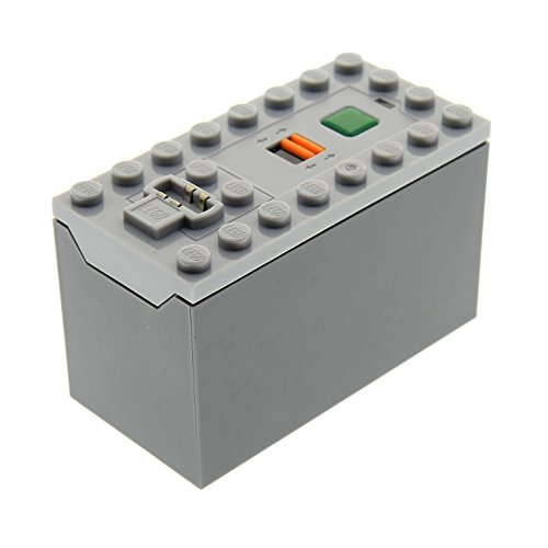 1 x Lego Technic Electric Batteriekasten neu-hell grau 9V BatterieBox Base neu-dunkel grau geprüft 7938 60098 60052 4578042 87513c01 (Lego Technic Electric)