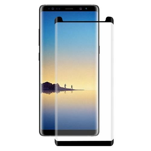 GIANT ARMOUR Premium BLACK Coloured Tempered Glass for Samsung Galaxy note 8 full Coverage including Curved Edges,Correct Sensor and Camera Cut outs