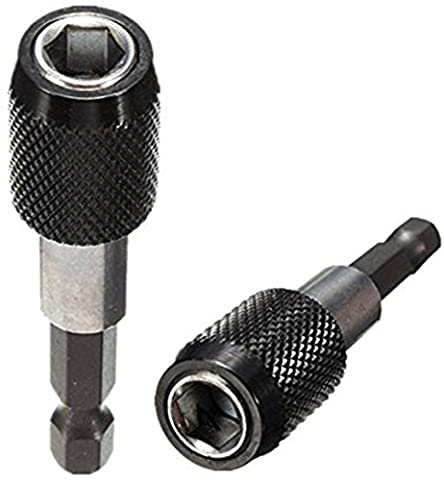 2 PCS 1/4 inch Hex Magnetic Screwdriver Bit Holder Quick Release Impact Driver Extension Bars Bit Tool