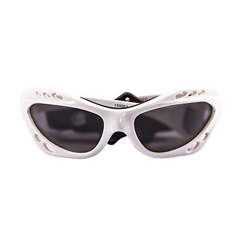 OCEAN SUNGLASSES - Cumbuco - lunettes de soleil polarisÃBlackrolles  - Monture : Blanc LaquÃBlackroll - Verres : FumÃBlackrolle (15000.3)