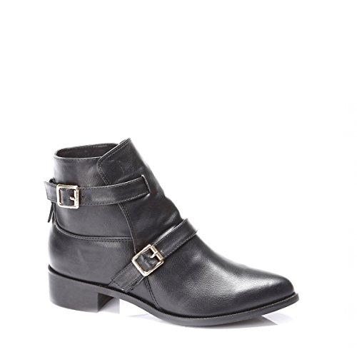 Bottes très élégantes, très chique, chaussures femme, modèle 11064104001427, noir ou rouge, différents modèles et tailles. Noir.