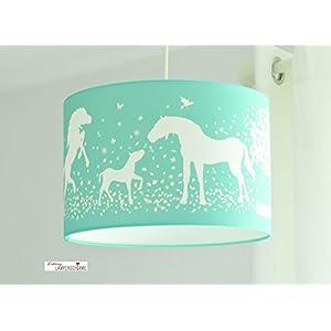 Lampenschirm - Pferde Mint - 35c