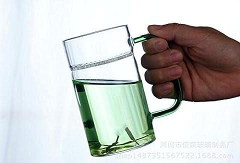 Verdickte Crescent Cups Glasschalen Cup & Towed Cups Büro Tee Grüntee Cups ( Color : Green )