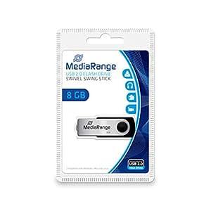 MediaRange MR9088Go USB 2.0Grey USB Flash Drive–USB Flash Drives (USB 2.0, USB 2.0, Type-A, Grey)